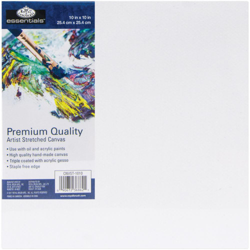 "essentials™ Premium Stretched Canvas - 10""x10"""