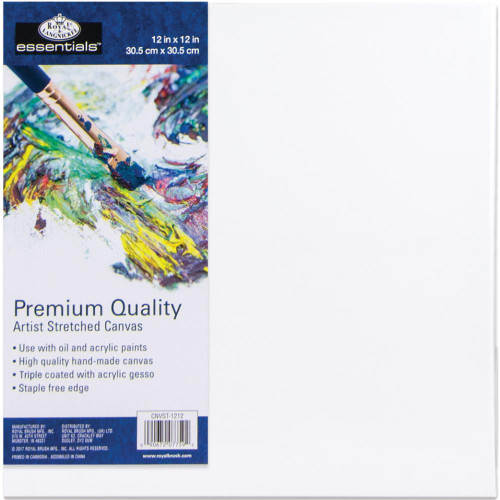 "essentials™ Premium Stretched Canvas - 12""x12"""