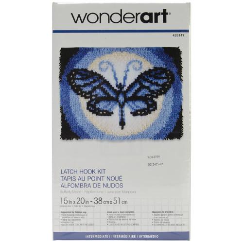 Caron Wonderart Latch Hook Kit - Butterfly Moon