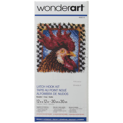 Caron Wonderart Latch Hook Kit - Rooster