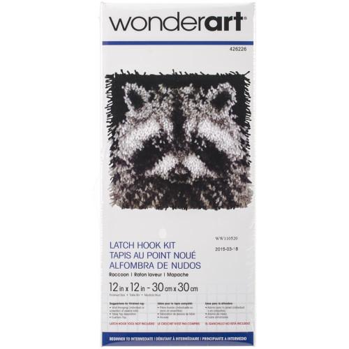 Caron Wonderart Latch Hook Kit - Raccoon