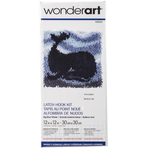 Caron Wonderart Latch Hook Kit - Big Blue Whale