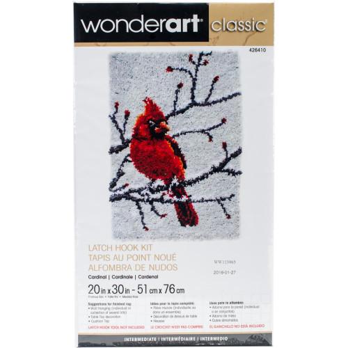 Caron Wonderart Classic Latch Hook Kit - Cardinal