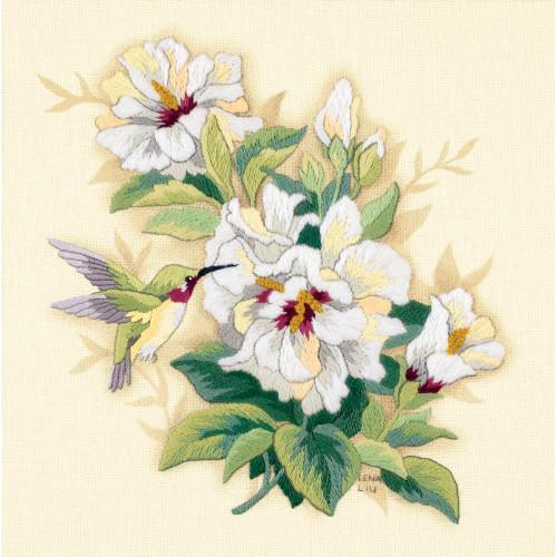Dimensions Crewel Kit - Hibiscus Floral