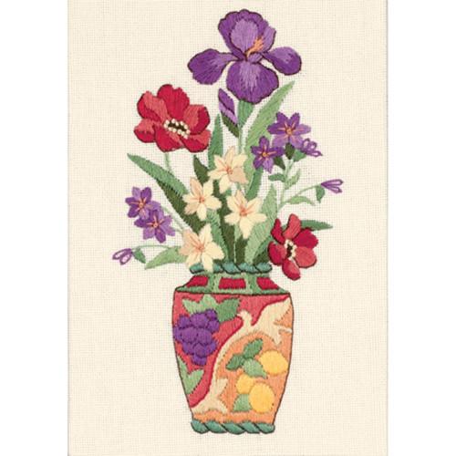 Dimensions Mini Crewel Kit - Elegant Floral