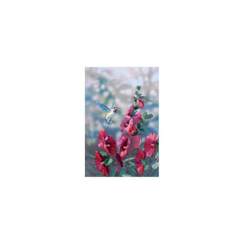 Dimensions Crewel Kit - Hollyhocks In Bloom