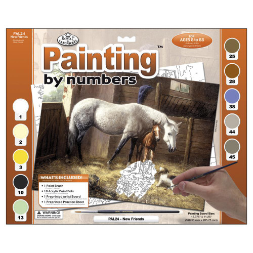 Royal Langnickel Paint By Number Kit - New Friends