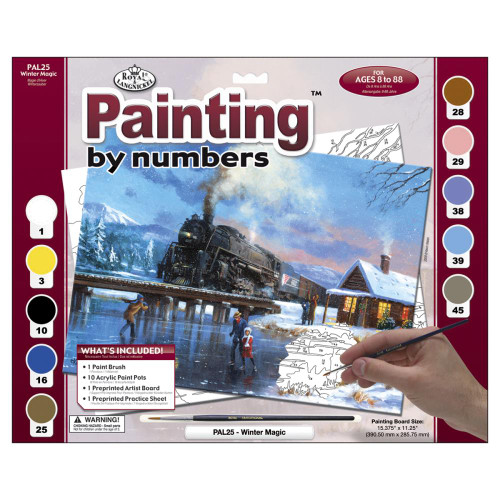 Royal Langnickel Paint By Number Kit - Winter Magic