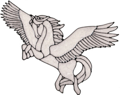 Pegasus Window Cling - White
