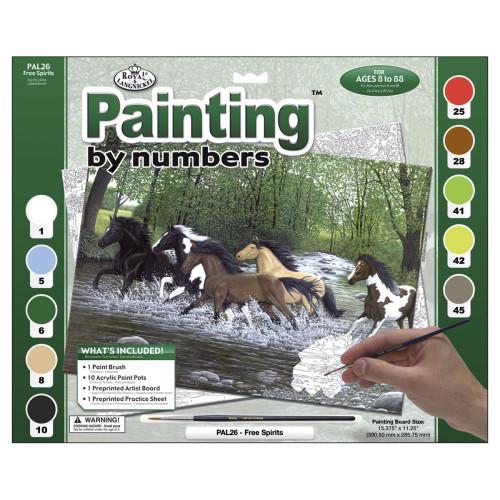 Royal Langnickel Paint By Number Kit - Free Spirit
