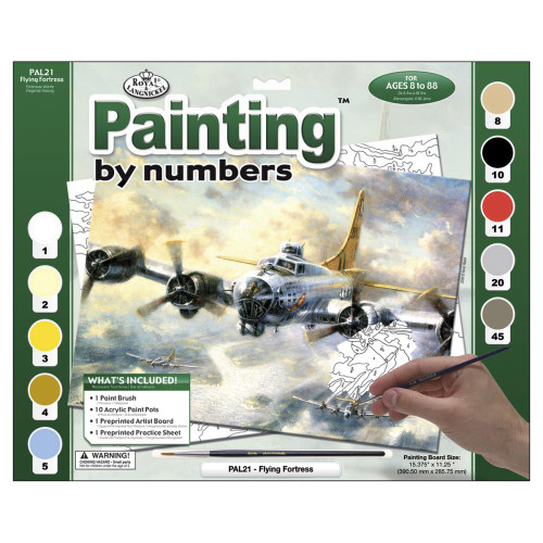 Royal Langnickel Paint By Number Kit - Flying Fortress