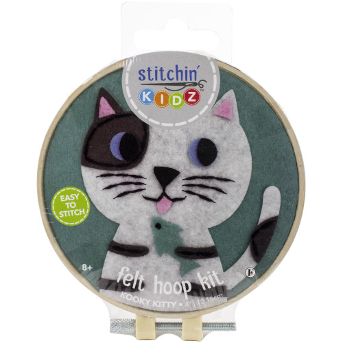 Fabric Editions Stitchin' Kidz Felt Hoop Kit - Cat