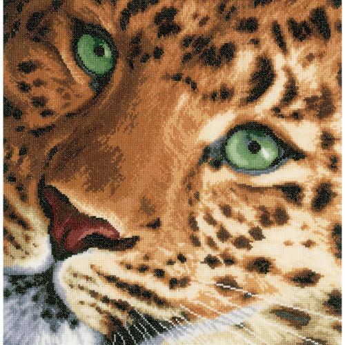 LanArte Counted Cross Stitch Kit - Leopard