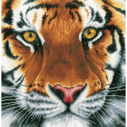 LanArte Counted Cross Stitch Kit - Tiger (14 Count)