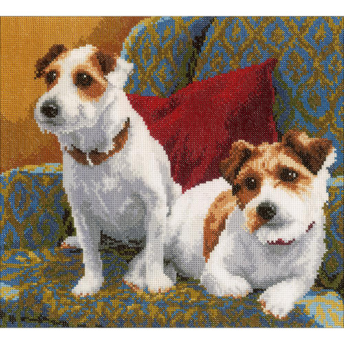 LanArte Counted Cross Stitch Kit - Best Friends For Life