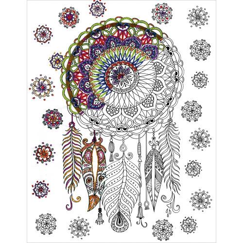 Design Works Zenbroidery Stamped Emrboidery Kit - Dreamcatcher