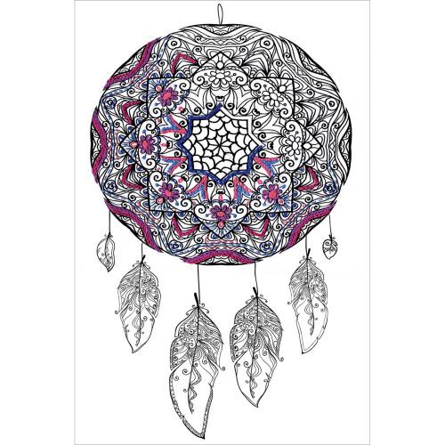 Design Works Zenbroidery Stamped Emrboidery Kit - Dream Catcher