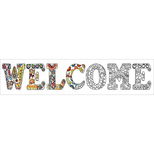 Design Works Zenbroidery Stamped Emrboidery Kit - Welcome