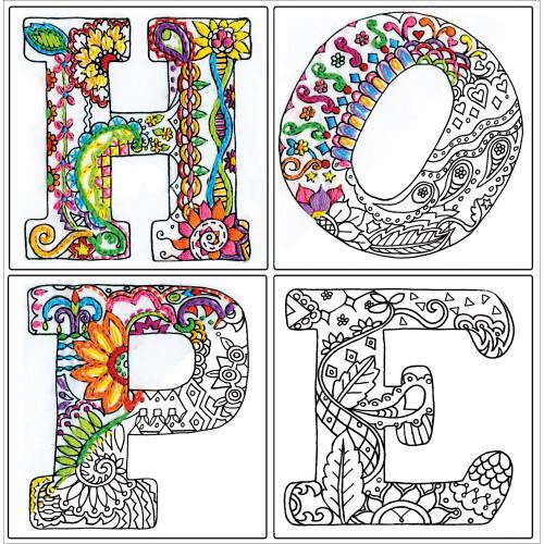 Design Works Zenbroidery Stamped Emrboidery Kit - Hope