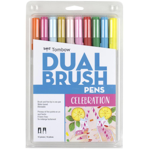 Tombow Dual Brush Pens 10/Pkg - Celebration