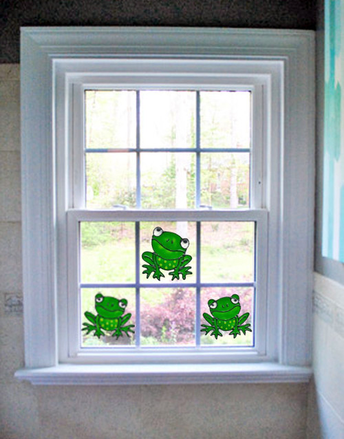Frogs Mini Window Cling Set