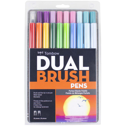 Tombow Dual Brush Pens 20/Pkg - Perfect Blends Palette