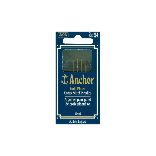 Anchor Gold-Plated Cross Stitch Needles #24