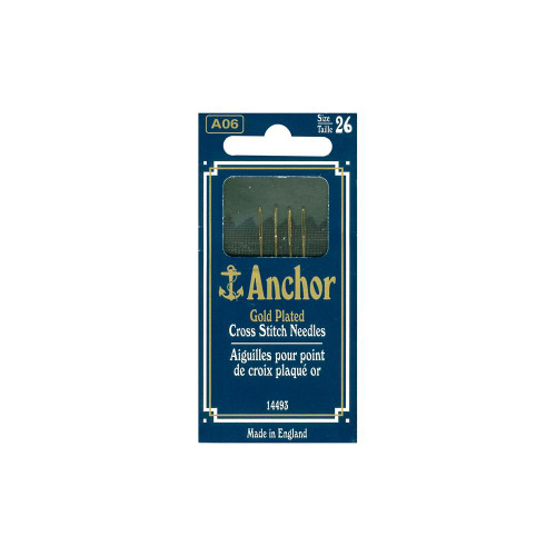 Anchor Gold-Plated Cross Stitch Needles #26