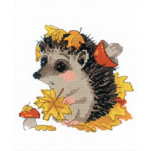 RIOLIS Counted Cross Stitch Kit - The Leaf Gatherer