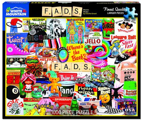 White Mountain 1000 Pc. Jigsaw Puzzle - Fads