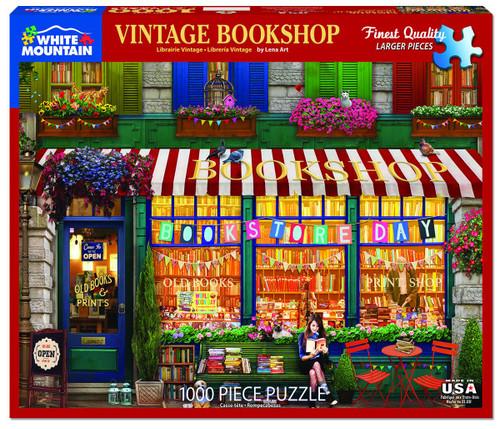 White Mountain 1000 Pc. Jigsaw Puzzle - Vintage Bookshop