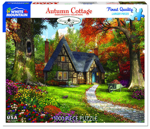 White Mountain 1000 Pc. Jigsaw Puzzle - Autumn Cottage