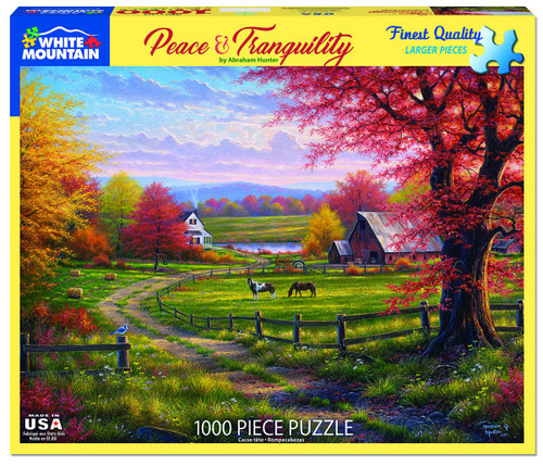 White Mountain 1000 Pc. Jigsaw Puzzle - Peace & Tranquility