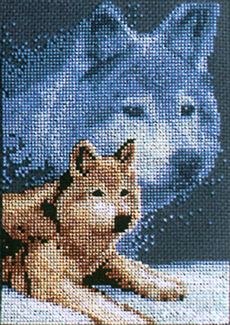 Janlynn Counted Cross Stitch Kit - Forever Wild Wolf