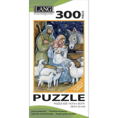 Lang Jigsaw Puzzle 300 Pc. - Sheep Nativity