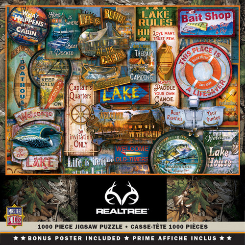 MasterPieces 1000 Pc. Jigsaw Puzzle - Realtree Off To The Lake House