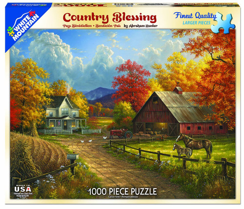 White Mountain 1000 Pc. Jigsaw Puzzle -Country Blessings