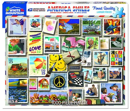 White Mountain 1000 Pc. Jigsaw Puzzle - America Smiles