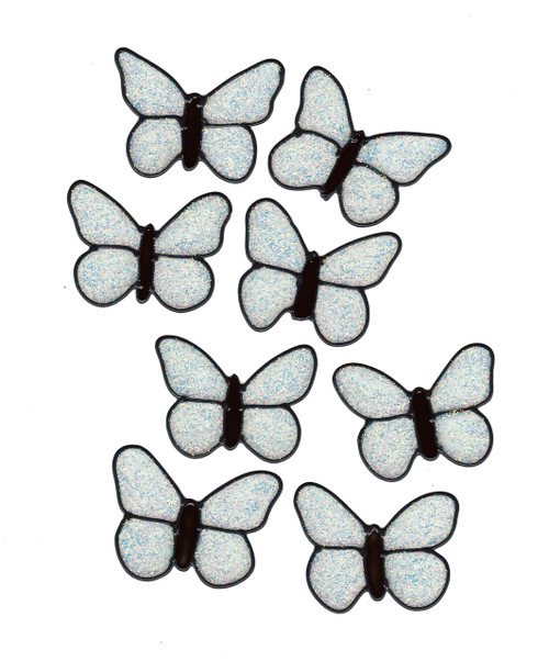 Butterfly Window Cling Set - Glitter