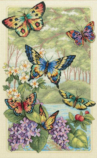 Dimensions Counted Cross Stitch Kit - Butterfly Forest