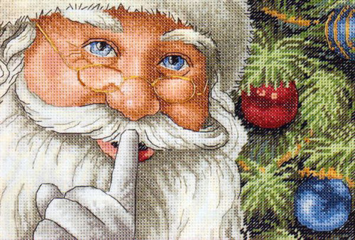 Dimensions Gold Petite Counted Cross Stitch Kit - Santa's Secret