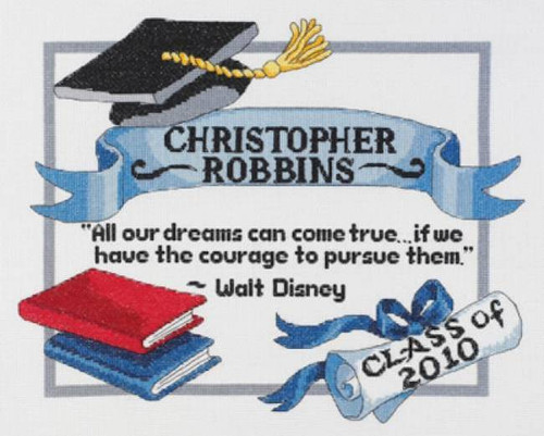 Janlynn Counted Cross Stitch Kit -  Graduation Dreams
