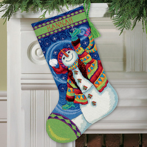 Dimensions Needlepoint Stocking Kit - Happy Snowman