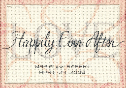 Dimensions Counted Cross Stitch Kit - Happily Ever After Wedding Record