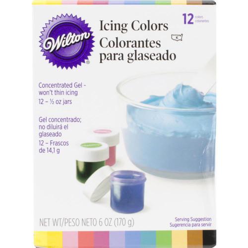 Wilton Icing Colors 1/2 oz - Assorted Colors 12/Pkg