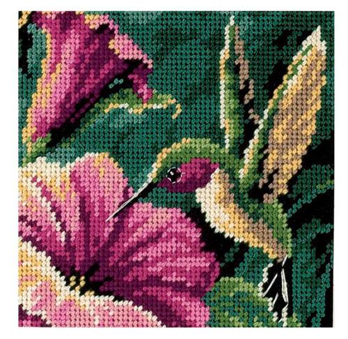 Dimensions Mini Needlepoint Kit - Hummingbird Drama