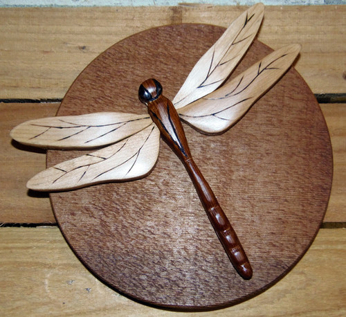 Intarsia Dragonfly Wall Plaque (A)
