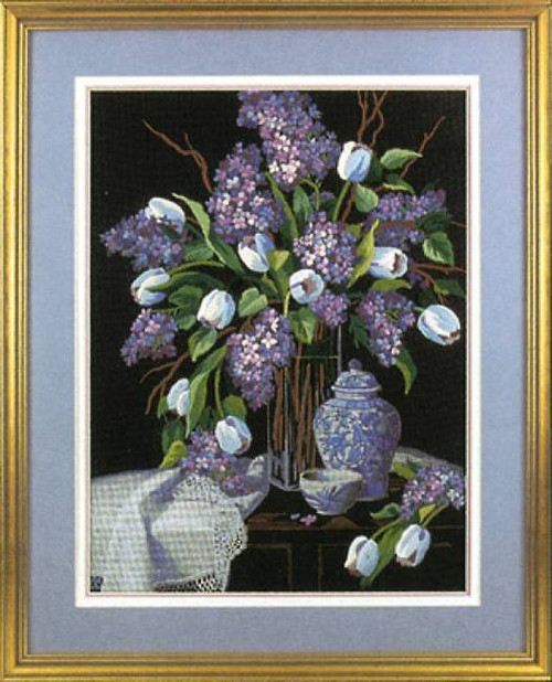 Dimensions Crewel Kit - Lilacs And Lace