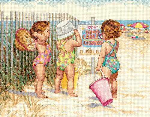 Dimensions Counted Cross Stitch Kit - Beach Babies