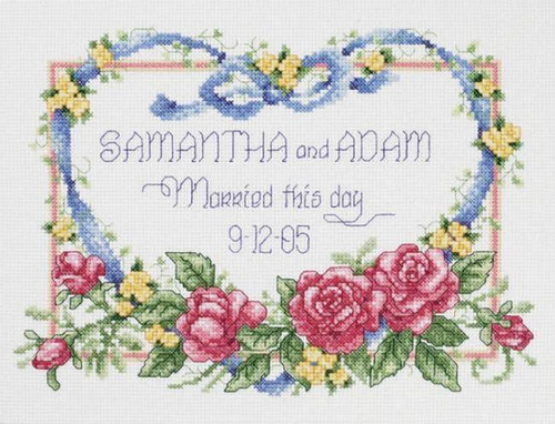 Janlynn Counted Cross Stitch Kit - Married This Day